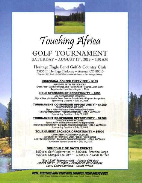 TAM 2018 Golf Tournament Flyer